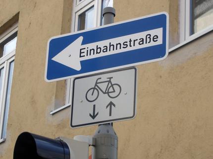 Bicicleta contramão Alemanha